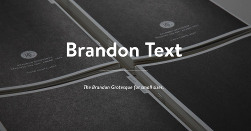 Just a reminder today is the last day for the intro offer for Brandon Text which is a companion or an update to the type Brandon Grotesque by Hannes von Döhren. Only just downloaded the type, and don't forget to ask for the limited print copy of the brochure. This may be one of the reasons why I am still a starving artist and a certified destitute.