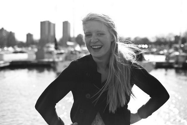 Meg on the Dock on Flickr.