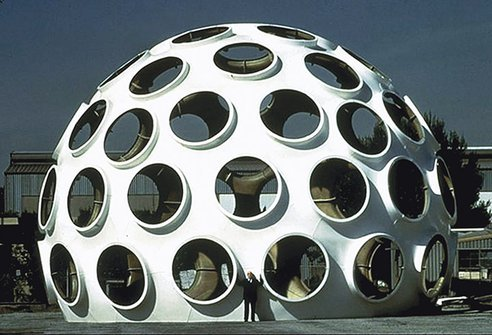 (via Biggest Bucky Fuller Fly Eye Dome being restored and moved to France)