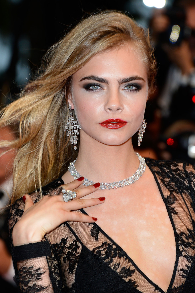 Cara Delevingne draped in a trifecta of Chopard diamond looks is the Cannes Film Festival Bauble Voyuer Moment of the day!