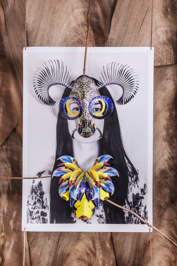 Fashion Photography with collage mask by Madame Peripetie