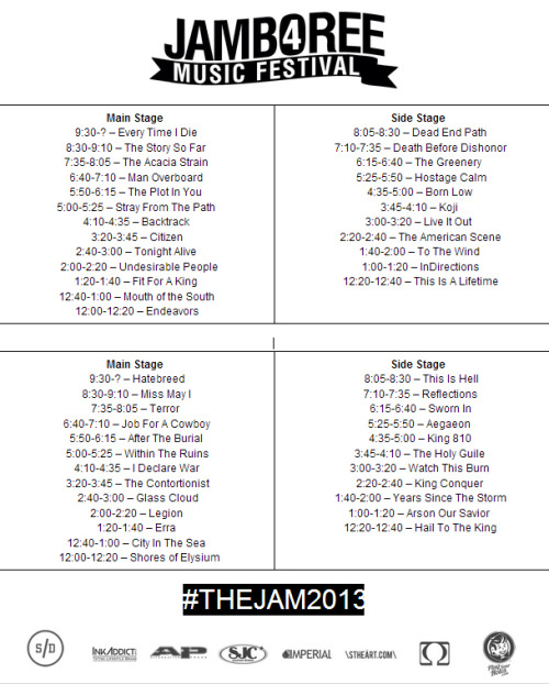 Printable Set Times!View Post