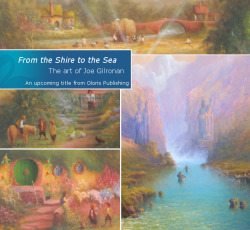 "From the Shire to the Sea to be published by Oloris Publishing: New art book by Joe Gilronan to be released in 2014. Oloris Publishing is happy to announce that From The Shire To The Sea by Joe Gilronan will be released in 2014. An artist who has used a variety of mediums, Gilronan offers an intriguing look at the world of Middle-earth. As to his fascination with this particular subject, Gilronan says:  ""My first introduction to Tolkien started at the age of 10 when I heard a reading of The Hobbit on a British children's show called Jackanory. This was the beginning of my passion for the writings and characters of J.R.R. Tolkien; I just loved the whole world that he had created and ever since, a part of me has remained in this world … art has allowed me to continue this magical adventure.""  The pages of this book of art are filled with beautiful, pastoral scenes from the Shire, yet span the spectrum to alarming pictures of the Ringwraiths on horseback.  Text includes the artist's comments about the image, the technique used, and his ponderings about the scenes in relation to the stories. Gilronan is very involved with the project, carefully selecting the works to be included in addition to writing the text. The major influences on Gilronan are two artists: J.M.W. Turner, and his father, R.A. Gilronan, a successful landscape painter in his own right. The use of light in the paintings is done in such a way as to make it look real, much like the work of J.M.W. Turner. Joe Gilronan says that he wanted to capture Tolkien's epic tale From the Shire to the Sea, hence the title. In doing so, he also allowed himself to imagine what may have happened during the times between the scenes described in the books - such as Hobbit friends out for a stroll, or Ents peering through the bushes. All the different scenes and textures work together to capture the many facets of an enduring tale."