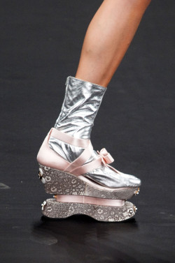 Love these shoes !!!  Shoe Porn at Prada Fall Winter 2013 | MFW