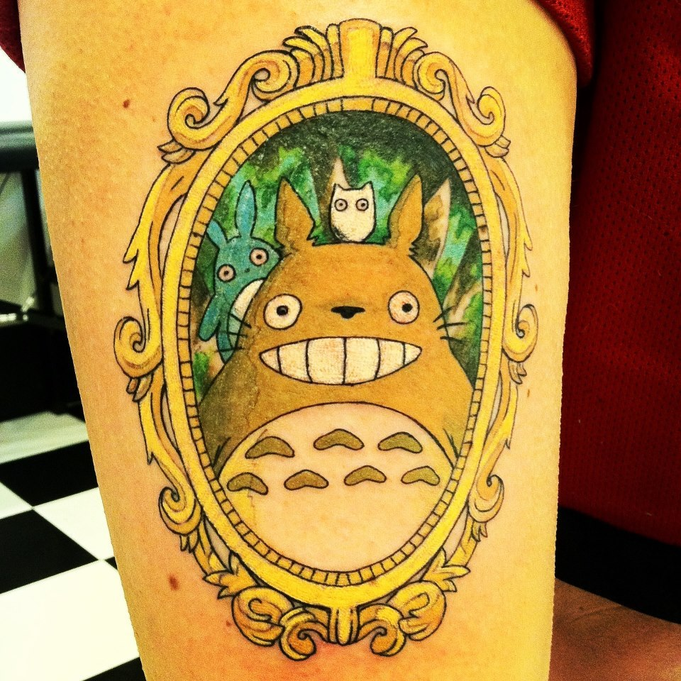 fuckyeahtattoos:  TOTORO!!!! :)Artist: Emily Chilvers aka KillversInstagram: @KillversPincushns Custom Tattooing and Body PiercingDowntown Holland, MI
