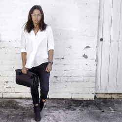 Lucy Amon looking crisp in her black Dr Denim #jeans #instagoodness #drdenim_au @mymanifesto_  👌👌 (at mymanifesto.com.au)