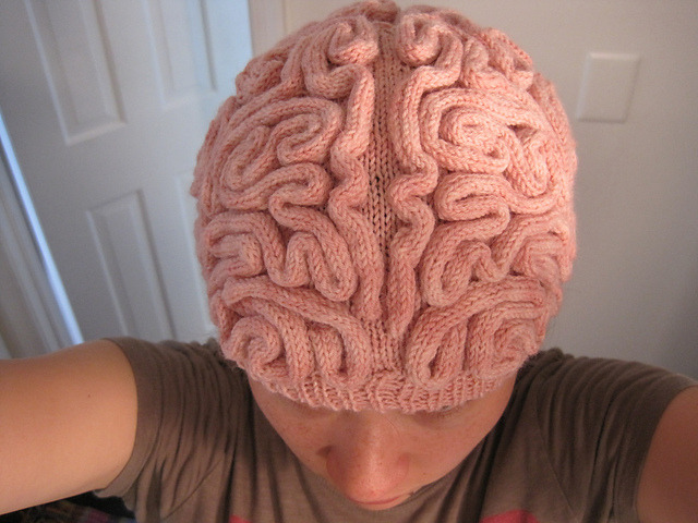 moshita:  Brain Hat  DIY Knitting Pattern Alana Noritake