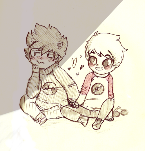 woospivsk:  just to be clear, karkat took dave's hand  arttrade with Chriiiiiiistina <3 i hope u like it ;w;