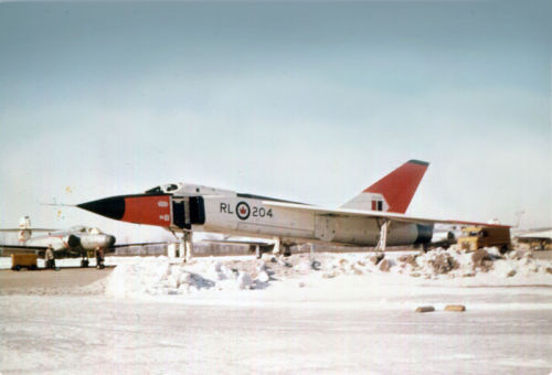 What Might Have Been…The Avro Canada Arrow: Image #1 RL-204, the fourth prototype built, with an Avro Canada Canuck in the background