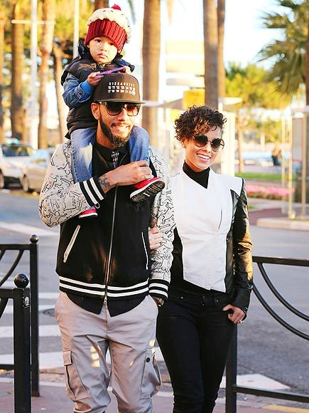 Alicia Keys and her family out and about.