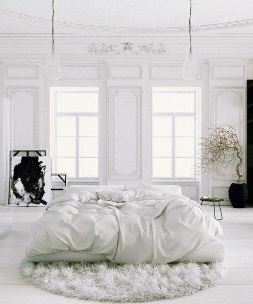 homedesigning:  (via Scandinavian & Parisian Apartments In White)