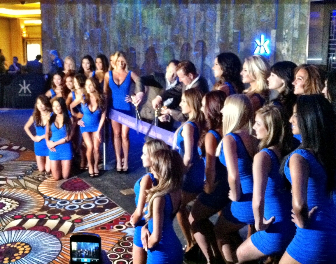 Today we celebrated the opening of Hakkasan Las Vegas Restaurant and Nightclub with a ribbon-cutting event featuring CEO of Angel Management Group Neil Moffitt along with Scott Sibella, president and COO of MGM Grand. The ceremony officially marks the debut of Las Vegas' newest nightlife destination. Later tonight, the doors of Hakkasan Nightclub will open to thousands of eager partygoers as they experience the venue for the first time.