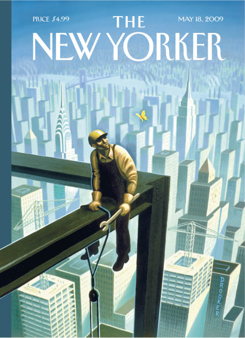 by Eric Drooker, Eustace a mighty steel worker—a perfect New York city scene, our gift to you for Xmas.