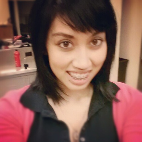 Went back to normal color with some dark purple #purple #hair #short #black #school #phagans #cosmetology #new #judgeme