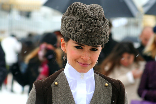 looking-glass-blues:  Miroslava Duma, Paris Fashion week