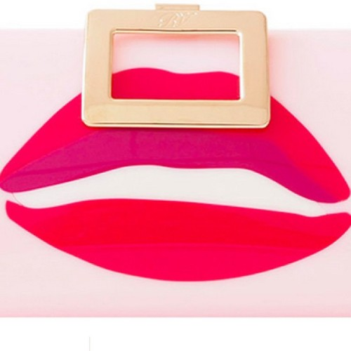 modaoperandi:  Mwah! 💋 @rogervivier Kiss clutch from the Rendez-Vous collection on M'O today!