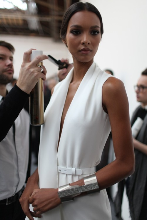 labellefabuleuse:  Lais Ribeiro backstage at Stephane Rolland Haute Couture, Spring 2013