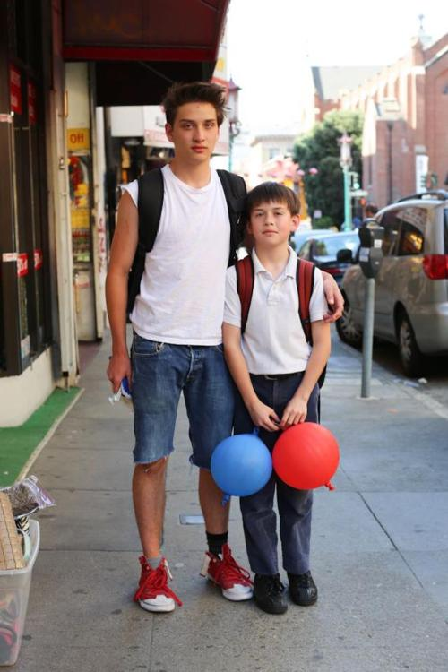 "humansofnewyork:  ""He's always there for me, even during tough times.""""What's one tough time he was there for you?""""When our dad got diagnosed with brain cancer."" (San Francisco, CA)"