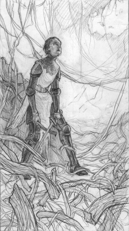 The drawing for my Rolemodels piece. You can see the initial rough here.