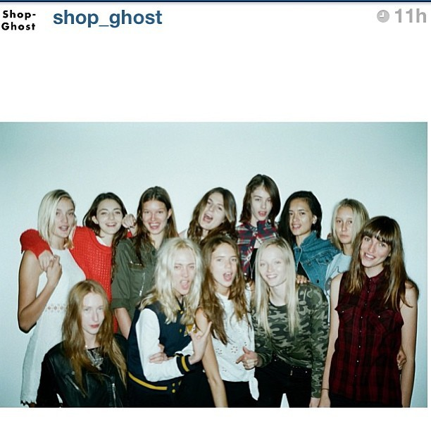 go-see-tourism:  #regram from @shop_ghost VARSITY BLUES.  (I'm front row, second from the left—THE BLONDEST.)