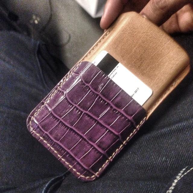 Stitched  #leathercraft #leathergoods #handmade #madebyhand #iphonecase