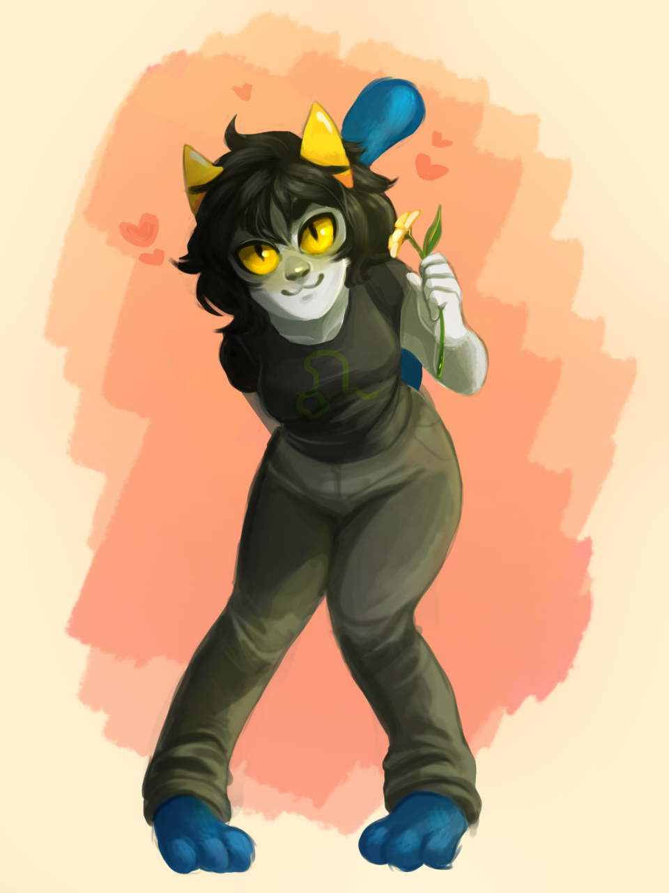 kubbypan:  here i present you nepeta giving you a flower