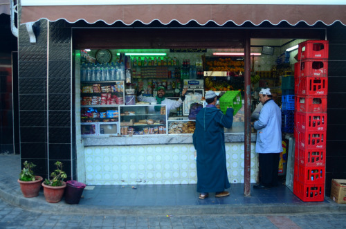 joelzimmer:   Market Stand Casablanca, Morocco Some people have no problem having a photo taken of them.