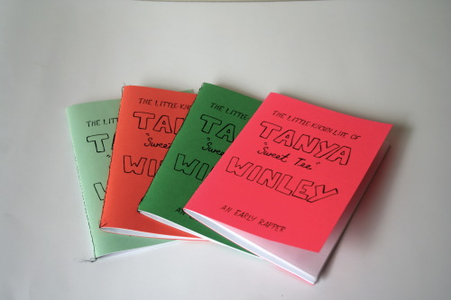 "This is a zine I made on Tanya ""Sweet Tee"" Winley, one of the earliest female emcees. Born and raised in Harlem, Sweet Tee began sharing rhymes with her pals in the late 1970s. She eventually landed a hit in 1980 called ""Vicious Rap,"" which is an early example of conscious rap. This little bio includes quotes, lyrics and fun illustrations. Great for any feminist, black artist, hip-hop enthusiast, all of the above, and more!  My tumblr is: thevarietystore.tumblr.com And you can get that zine right here!"