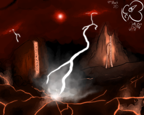 TAoA - The Hefna Badlands  Concept art for a location in The Angels of Altair.I actually drew this accidentally, but hey, it was a good accident, right? I mean, it's not the best thing ever, but it's good enough for my standards.Do not use.