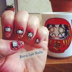 Nail art inspired by my coffee mug:)