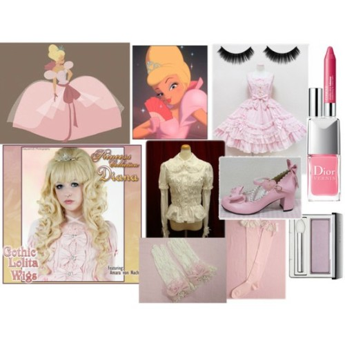 "sailorvenus1989:  ""Charlotte Lolita"" by aimeeabsinthexo on Polyvore I love Charlotte. I feel like she would suit Hime Lolita to a tee :D I would love to do this or a similar coord for our Disney meet :P"