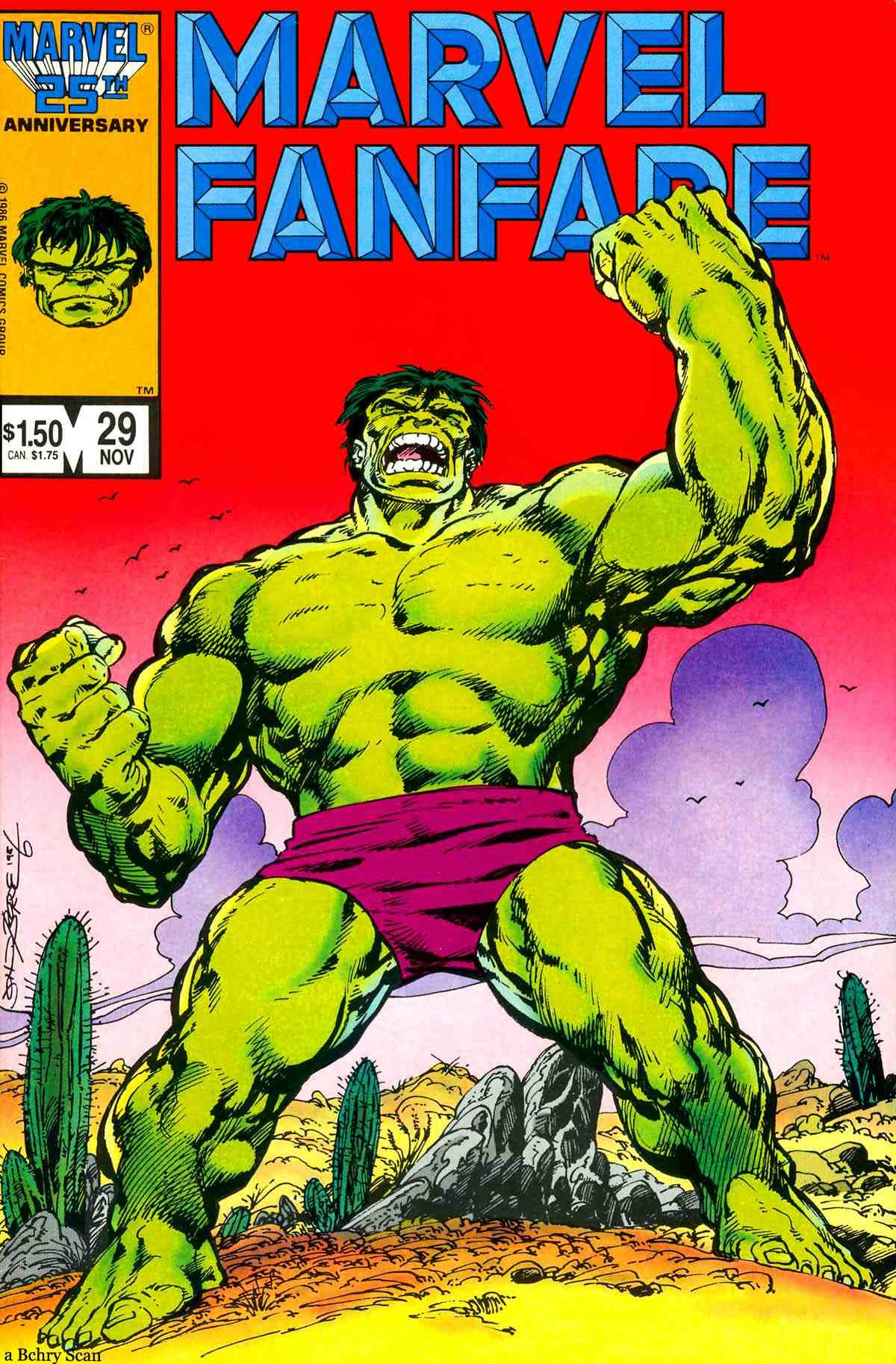 Classic cover by John Byrne to Marvel Fanfare #29, published by Marvel Comics, November 1986.