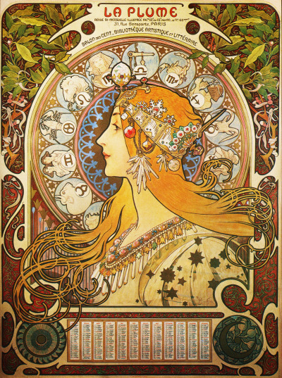 vi-si0ns:  I really love all Alphonse Mucha artwork. Art Noveau is just amazin as they say on the books. I'm obsessed.