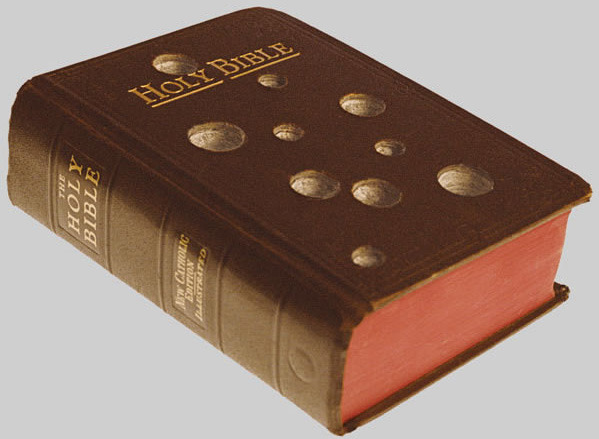 visual-poetry:  »holy bible« by rinaldo frattolillo