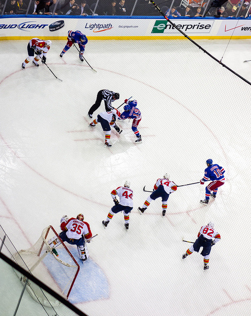 Rangers and Panthers Face Off on Flickr.Via Flickr: From Florida's 3-1 win at Madison Square Garden last night.