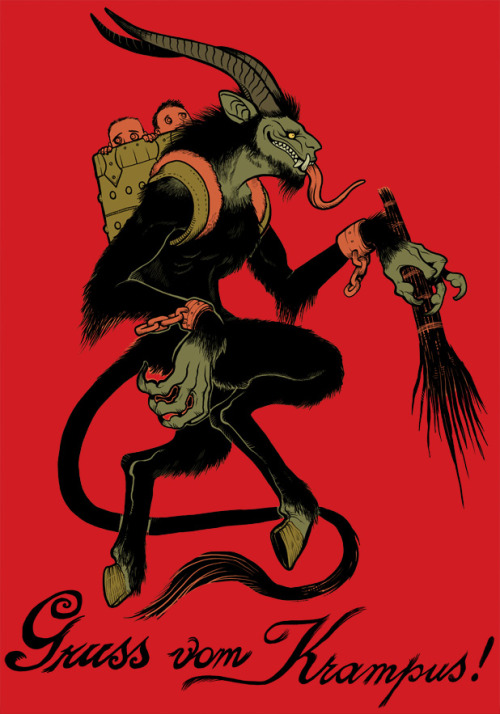 Greetings from Krampus!  www.missmonster.deviantart.com/