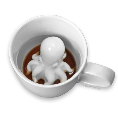 This morning we're sipping our coffee with a new species of cephalopod, the mug-dwelling octopus.