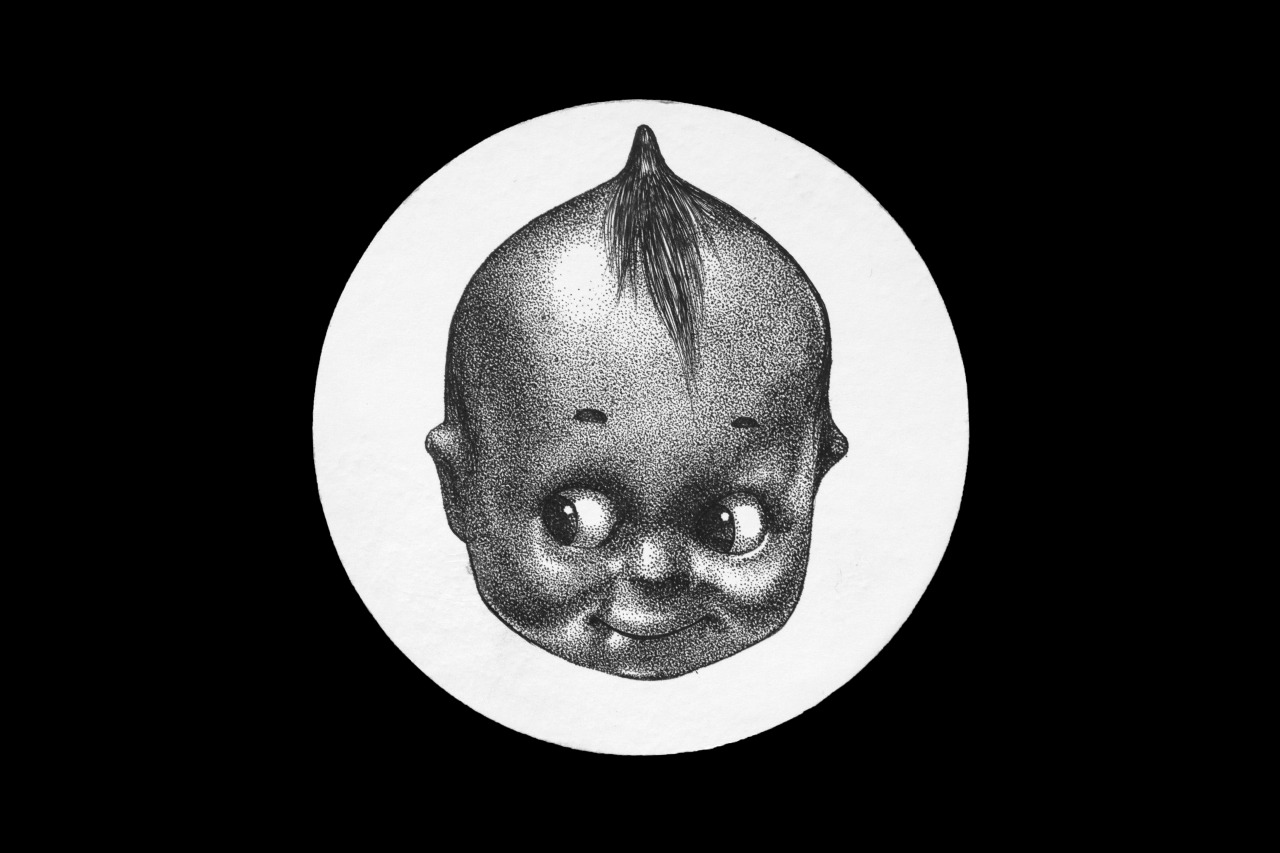 i need to draw a few more #cupie#kewpie#doll#creepy doll#dotwork#graphicwork
