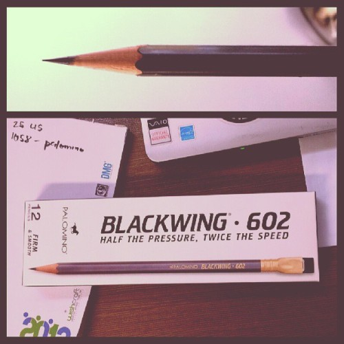 Blackwing 602: latest amazon purchase. I initially borrowes this from a friend. It really is half the pressure, twice the speed