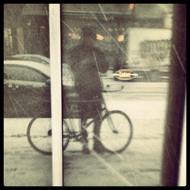 Caught in the snowstorm…
