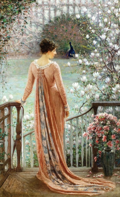 fleurdulys:  A Spring Fantasy - William John Hennessy 1880
