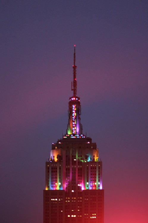empire state in technicolor tonight! HNY