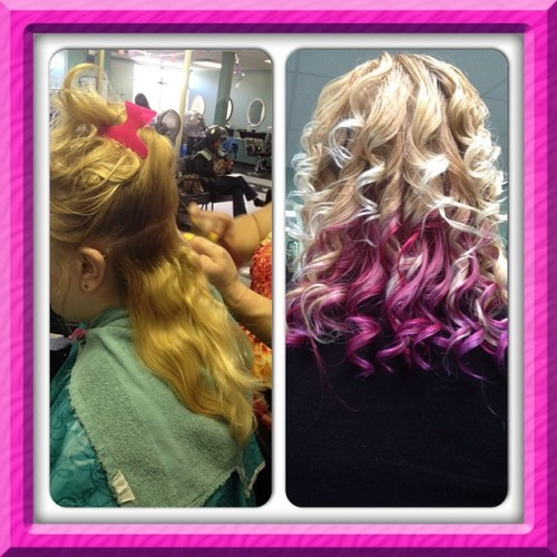 Hurr by me! #pink #purple #red #curls #hair