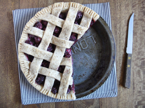 theadelaidefoodie:  Blackberry Pie