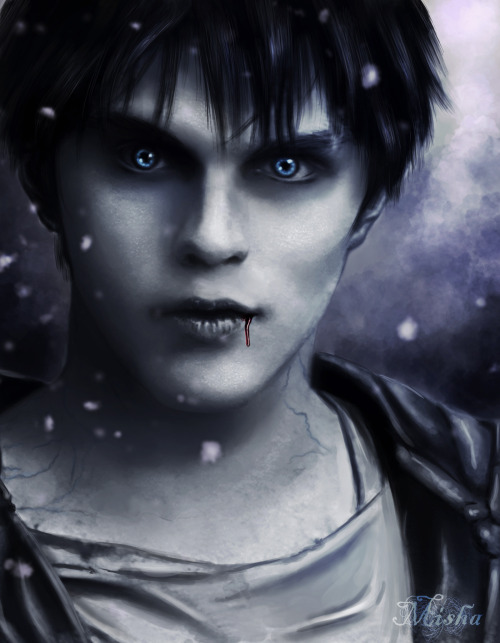 "Awesome job on ""R"" from the upcoming movie ""Warm Bodies""… ""Cold"" by elfdust"
