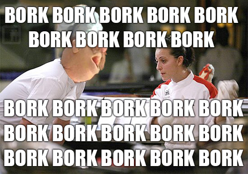 collegehumor:  awkward-elevator:  Swedish Chef Ramsay  Much more understandable now.