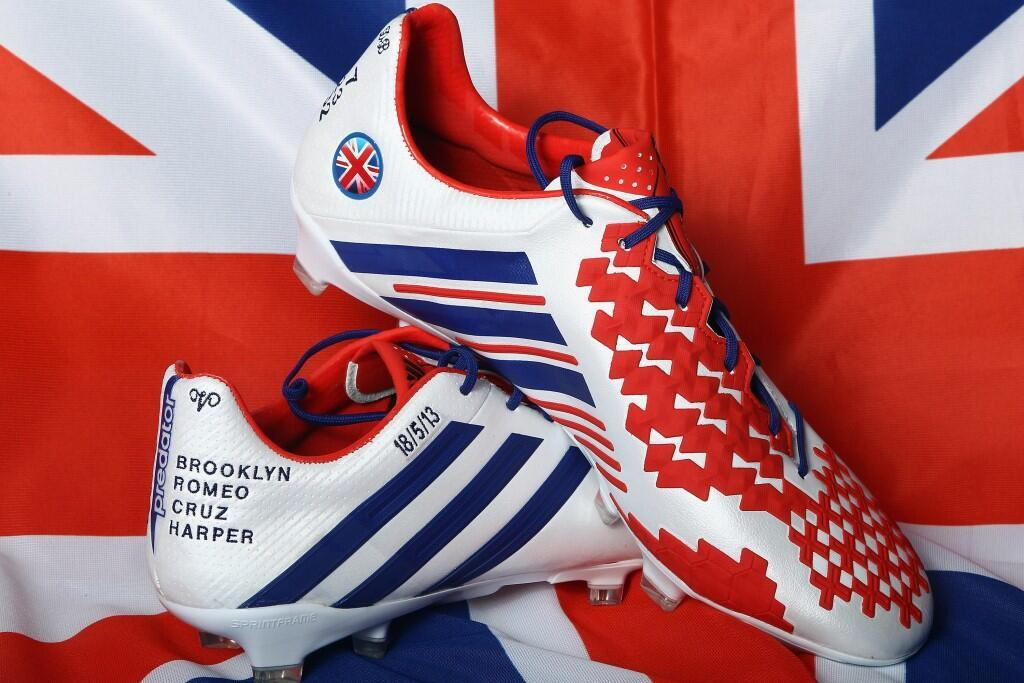 David Beckham's cleats for his last game.