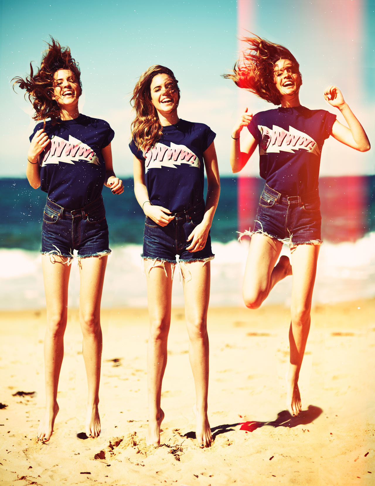 Wearing: Levis Mens Jeans turned Cutoffs, Owwww Tee But seriously you guys, how good is Pop Art inspired c