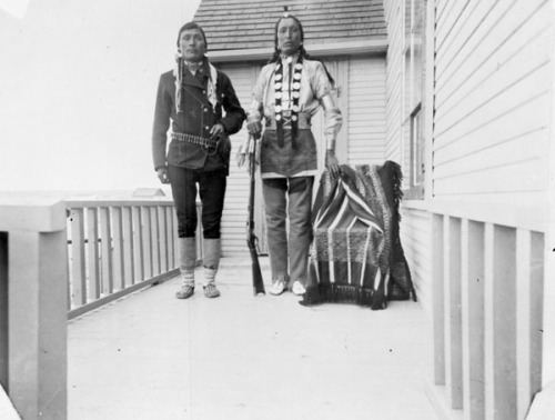 maybeedmonton:Cree men, Northern Alberta, no date.