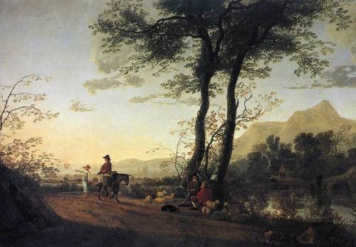Aelbert Cuyp, A Road Near a River, 1650s